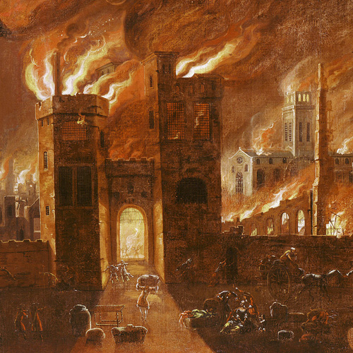 Painting: 'The Great Fire of London 1666'
