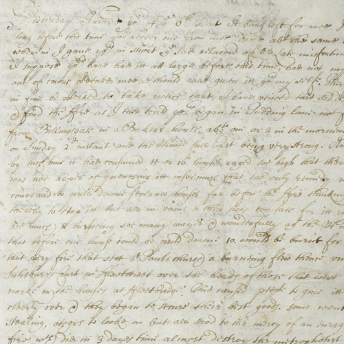Letter from Henry Griffith, 18 September 1666