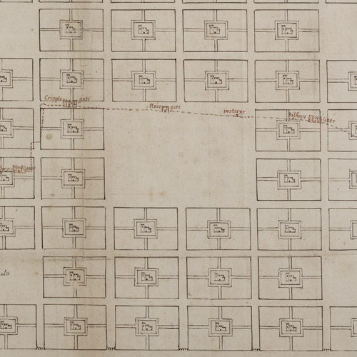 Richard Newcourt's plan for rebuilding London