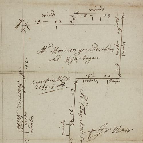 Plan of Pudding Lane
