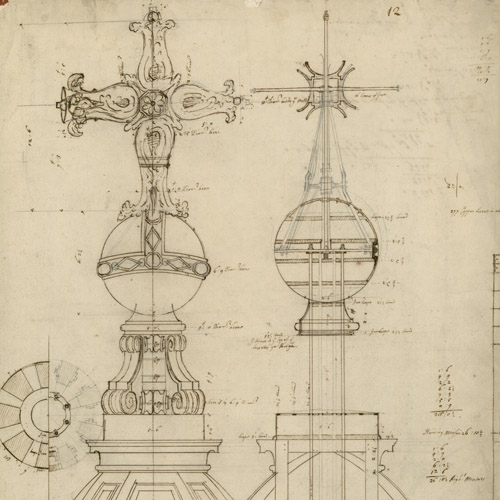 Christopher Wren's design for the St Paul's Cathedral dome