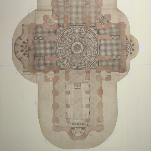 Christopher Wren's design for the St Paul's Cathedral floor