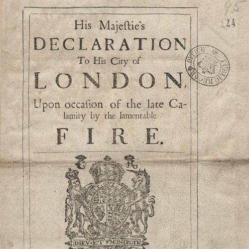 Proclamation of Charles II, 1666