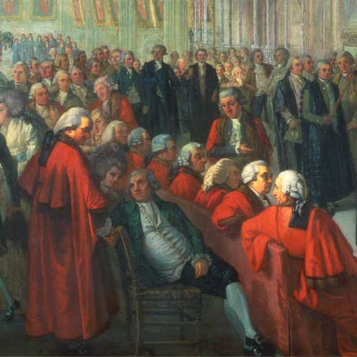 Painting: 'The Ceremony of Administering the Mayoralty Oath to Nathaniel Newnham, November 8 1782'