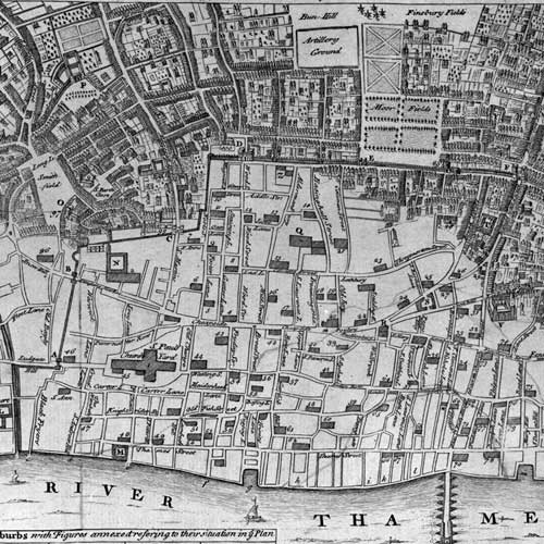 Map: 'A plan of the City and Liberties of London after the dreadful conflagration in the year 1666'